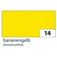 Бумага однотонная двухсторонняя, цвет банановый, 50х70 см, арт. 6714