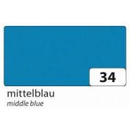 Бумага однотонная двухсторонняя, 130 гр цвет синий, 50х70 см, арт. 6734