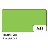 Бумага однотонная двухсторонняя, цвет весенняя зелень, 50х70 см, арт. 6750