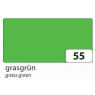 Бумага однотонная двухсторонняя, цвет зелёная трава, 50х70 см, арт. 6755