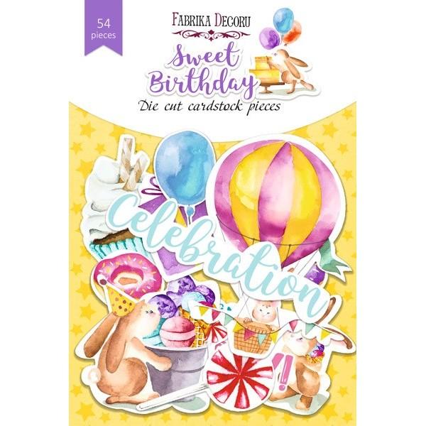 Набор высечек «Sweet birthday», 54 шт. FDSDC-04073