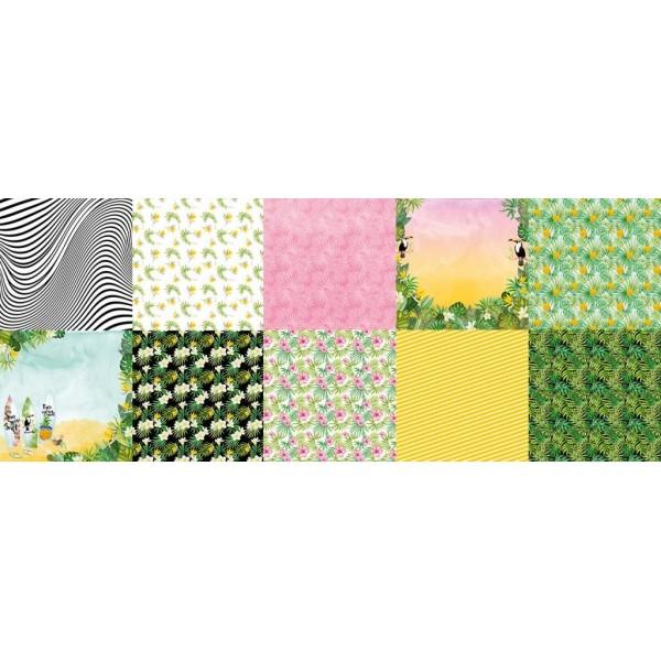 НАБОР СКРАПБУМАГИ WILD TROPICS 30,5X30,5СМ арт. FDSP-01071