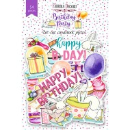 "Набор высечек, коллекция ""Birthday party "",54 шт Артикул: FDCDS-04015"