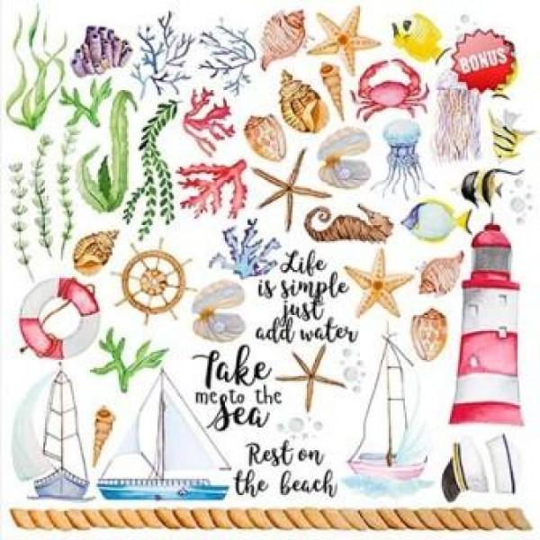 """Набор скрапбумаги """"Sea breeze"""", 30.5 Х 30.5 см, арт. FDSP-01034"""