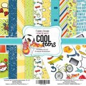 "НАБОР СКРАПБУМАГИ ""COOL TEENS"", 30,5X30,5СМ, 10 листов, 200 гр . арт. FDSP-01062"