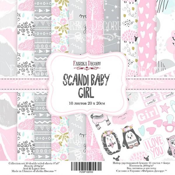 "НАБОР СКРАПБУМАГИ ""SCANDI BABY GIRL"", 30,5X30,5СМ, арт. FDSP-01050"