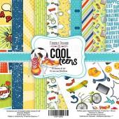 "НАБОР СКРАПБУМАГИ ""COOL TEENS"", 20X20СМ, ФАБРИКА ДЕКОРУ, 10 листов, 200 гр . арт. FDSP-02062"