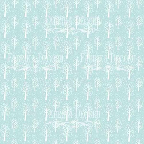 """Лист двусторонней бумаги 30*30 из коллекции """"Scandi baby boy"""" от Фабрики Декору, 30*30 см, арт. SBB4"""