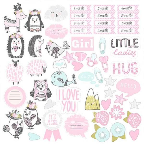 "Лист двусторонней бумаги 30*30 из коллекции ""Scandi baby girl"" от Фабрики Декору, 30*30 см, арт. SBG56"