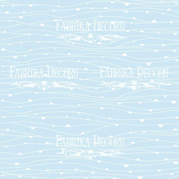"""Лист двусторонней бумаги 30*30  из коллекции """"Summer holiday"""" от Фабрики Декору, SH3"""