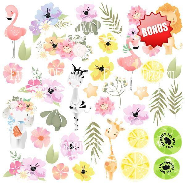"Лист бумаги 30*30  из коллекции ""Summer holiday"" от Фабрики Декору, SH6"