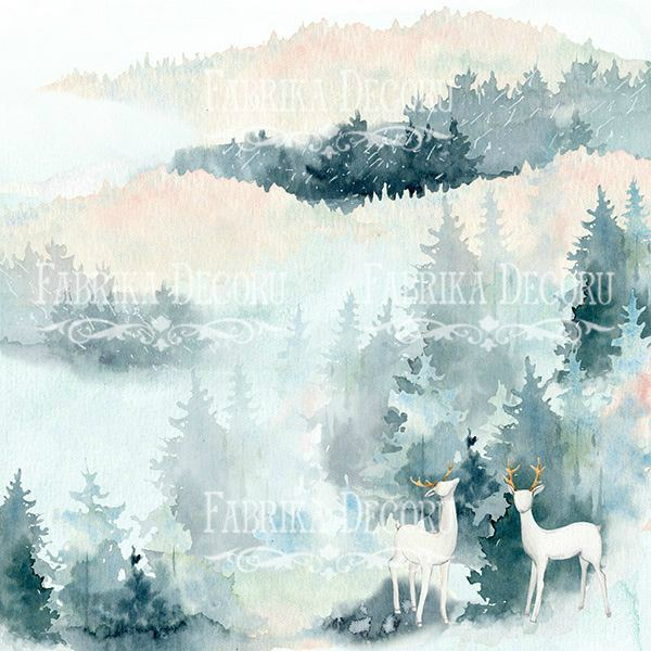 "НАБОР СКРАПБУМАГИ ""Winter Love Story"", 20X20СМ, ФАБРИКА ДЕКОРУ, 10 листов, 200 гр . арт. FDSP-02061"