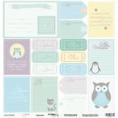 Лист односторонней бумаги 30x30 от Scrapmir Карточки из коллекции Baby Boy , SM1700010