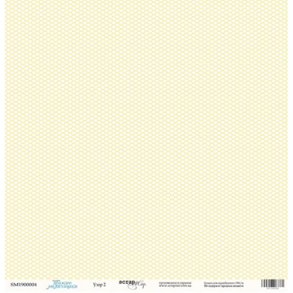 Лист односторонней бумаги 30x30 от Scrapmir Узор 2 из коллекции Такие Мальчишки, SM1900004
