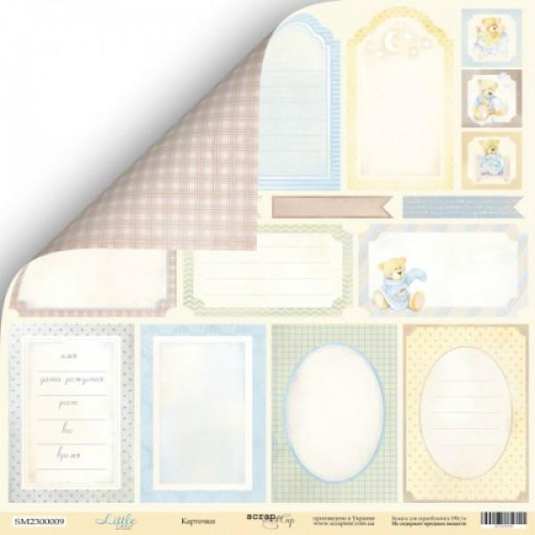 Лист двусторонней бумаги 30x30 от Scrapmir Карточки из коллекции Little Bear,SM2300009