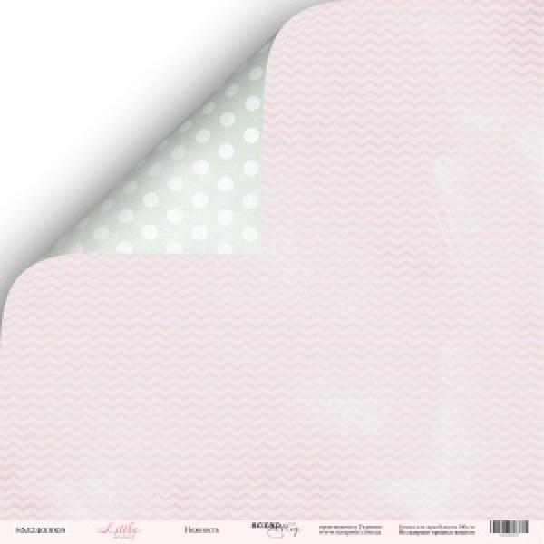 Лист двусторонней бумаги 30x30 от Scrapmir Нежность из коллекции Little Bunny, арт.SM2400005