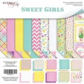 Набор двусторонней  бумаги 30х30см Sweet girls, 10шт, арт.SM2500011