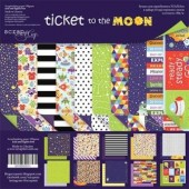 Набор бумаги Ticket to the Moon 20х20см 190гр. (10 двуст.листов) ТМ Scrapmir  арт. sm3200016