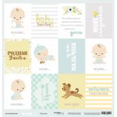 Лист односторонней бумаги 30x30 от Scrapmir Карточки (RU) из коллекции Smile Baby, SM3400006