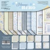 Набор двусторонней бумаги 20х20см от Scrapmir Mommy's Hero,SM3900016