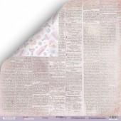 Лист двусторонней бумаги 30x30 от Scrapmir Газета 2  из коллекции Daddy's Princess, арт.SM4000002