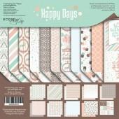 Набор двусторонней бумаги 20х20см от Scrapmir Happy Days, SM4200016