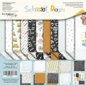 Набор двусторонней бумаги 30х30см от Scrapmir School Days 11шт