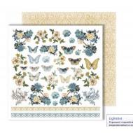 "Лист для вырезания ""Butterfly"" из коллекции ""Dreams come true"", 30,5х30,5 см, пл. 250 гр"
