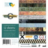 """Набор бумаги """"Время впечатлений"""", 30,5х30,5 см, 12 двусторонних листов, пл. 250 гр"""