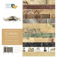 "Набор бумаги ""Homo sapiens"", 30,5х30,5 см, 12 двусторонних листов, пл. 250 гр"
