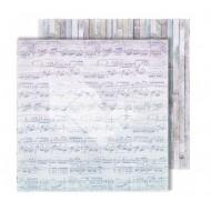"""Лист двусторонней бумаги """"Notes"""" из коллекции """"Flowers Symphony"""", 30,5х30,5 см, пл. 250 гр"""