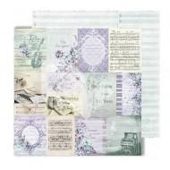 "Лист двусторонней бумаги ""Cards"" из коллекции ""Flowers Symphony"", 30,5х30,5 см, пл. 250 гр"