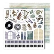 """Лист для вырезания """"Elements"""" из коллекции """"Flowers Symphony"""", 30,5х30,5 см, пл. 250 гр"""