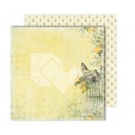 "Лист двусторонней бумаги ""Bees"" из коллекции ""Spring holidays"", 30,5х30,5 см, пл. 250 гр"