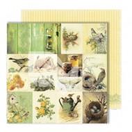 """Лист для вырезания """"Cards"""" из коллекции """"Spring holidays"""", 30,5х30,5 см, пл. 250 гр"""