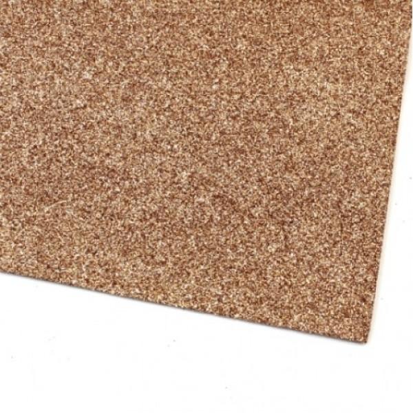 Глиттерный картон А4, цвет коричневый, 250 гр