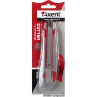 Нож канцелярский мощный Аксент 18 мм и 2 лезвия арт.6702-А