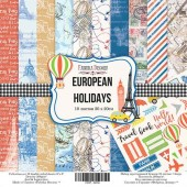 "НАБОР СКРАПБУМАГИ ""EUROPEAN HOLIDAYS"", 20X20СМ, арт. FDSP-02036"