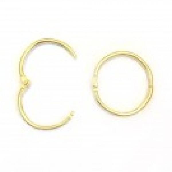 Кольцо разъемное 25 мм, золото, 2 штуки, арт.K-009-25g
