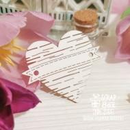 Чипборд деревянное сердечко с ленточкой Hh-235