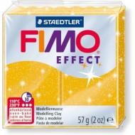 Полимерная пластика FIMO Effect 57г золотой с глиттером арт. 8020-112