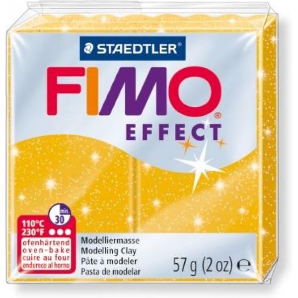 Полимерная пластика FIMO Effect 112, золотой с глиттером, 57 арт. 8020-112