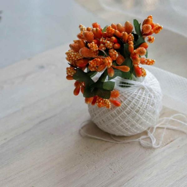 Тычинки, пучок из 10 веточек, цвет: оранжевый