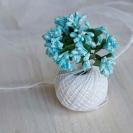 Тычинки, пучок из 10 веточек, цвет: голубой