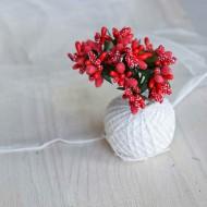 Тычинки, пучок из 10 веточек, цвет: красный