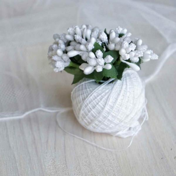 Тычинки, пучок из 10 веточек, цвет: белый