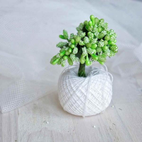 Тычинки, пучок из 10 веточек, цвет: зеленый