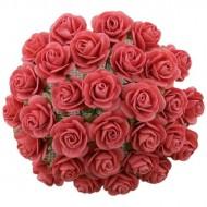 Цветы бумажные, размер 2 см, цвет CORAL