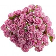 Цветы бумажные, размер 1,5 см, цвет PINK
