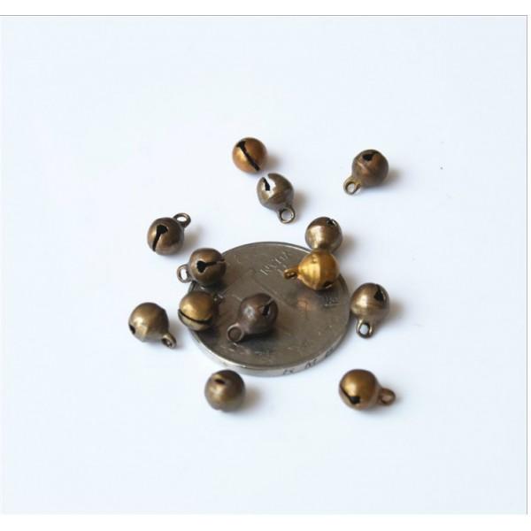 Колокольчик, 12 мм, набор 10 шт, цвет: бронза